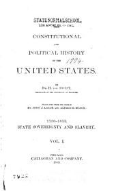 1750-1833. State sovereignty and slavery. 1889