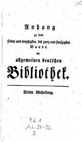 Allgemeine deutsche Bibliothek. (Mit Kupfern.)