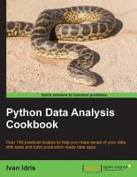 Python Data Analysis Cookbook PDF
