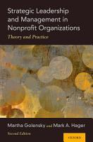 Strategic Leadership and Management in Nonprofit Organizations PDF