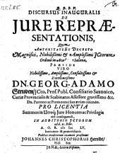 De jure repraesentationis; resp. Joh. Christoph. Heroldt