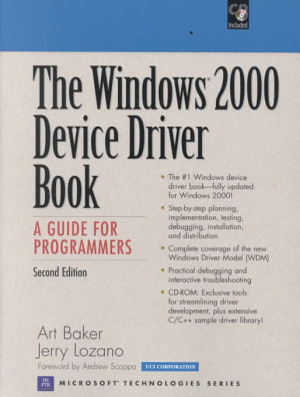 The Windows 2000 Device Driver Book PDF