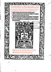 Ludolfi Carthusiensis qui et autor fuit vite Christi: in Psalteriu[m] expositio