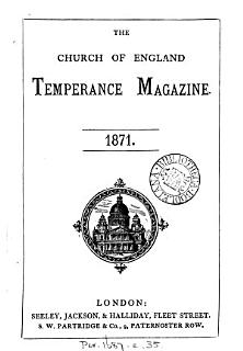 The Church of England Temperance Magazine Book