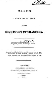 Cases Argued and Decreed in the High Court of Chancery [1660-1697].