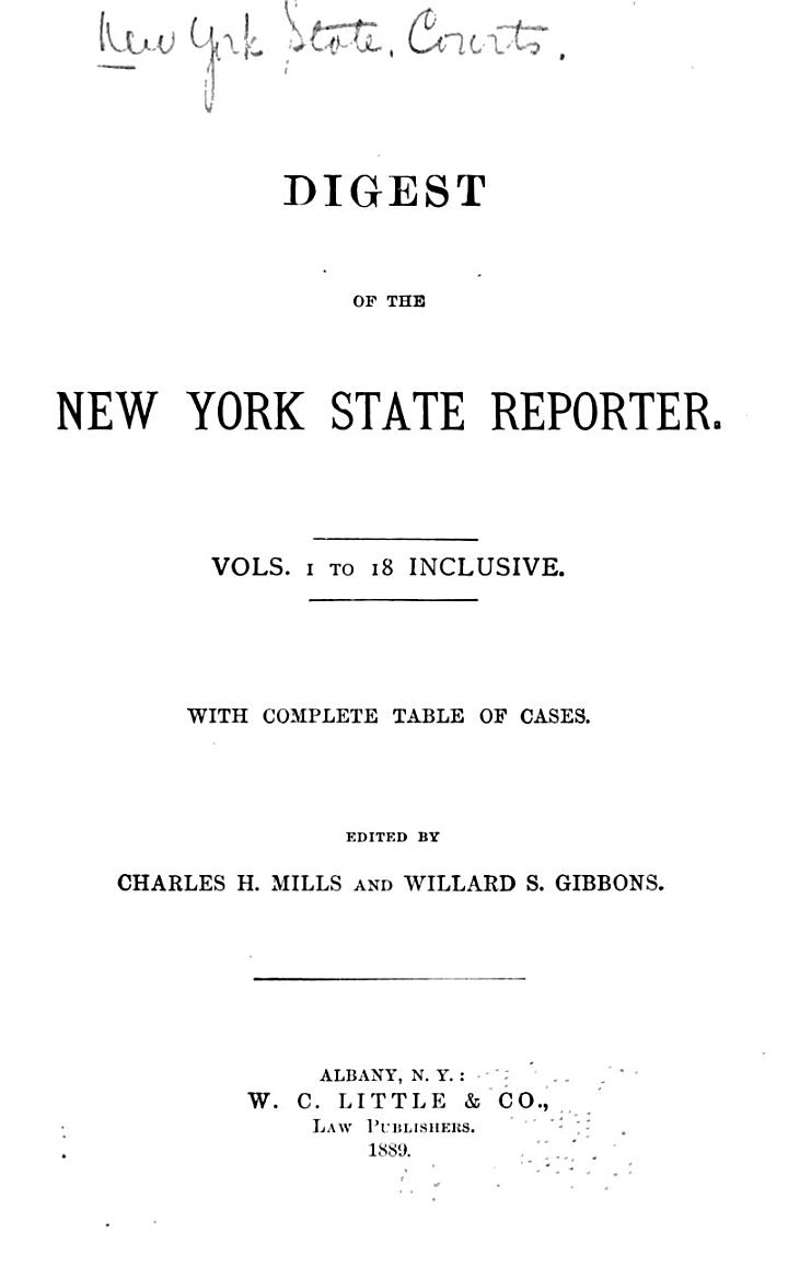 Digest of the New York State Reporter