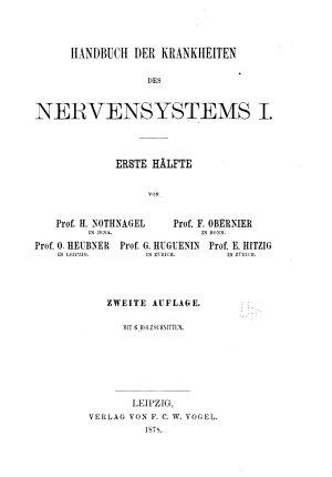 Handbuch der speciellen Pathologie und Therapie       Handbuch des nervensystems  1876 77 PDF