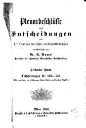 Plenarbeschlüsse und entscheidungen des K.K. Cassationshofes, veröffentlicht im auftrage des K.K. Obersten gerichts- als cassationshofes von der redaction der Allgemeinen österreichischen gerichtszeitung ...: Band 601,Ausgabe 750