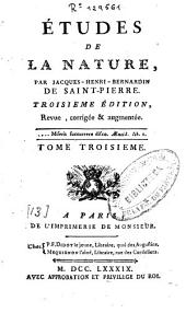 Études de la Nature: Volume 3