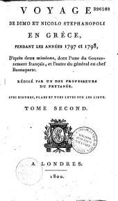 Voyage de Dimo et Nicolo Stephanopoli en Grèce: 1797-1798