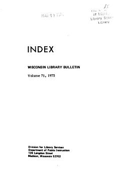 Wisconsin Library Bulletin PDF