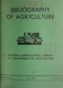 Bibliography of Agriculture with Subject Index PDF