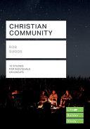 Christian Community  Lifebuilder Study Guides