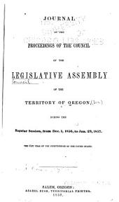 Journal of the Council of the Territory of Oregon: Volume 8