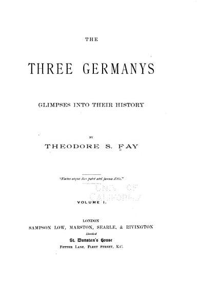 The three Germany s PDF
