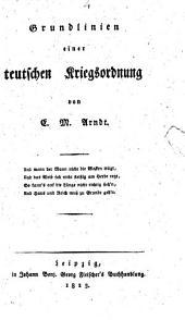 Grundlinien einer teutschen Kriegsordnung