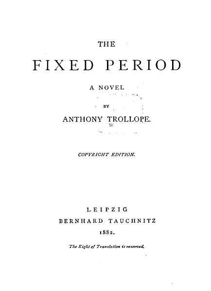 Download The Fixed Period Book