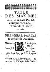 La Cour Sainte: ¬Les Maximes, Volume3