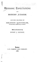 Messianic Expectations and Modern Judaism PDF