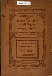Journal of Therapeutics and Dietetics: Volume 8, Issue 7