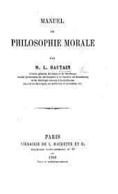 Manuel de philosophie morale