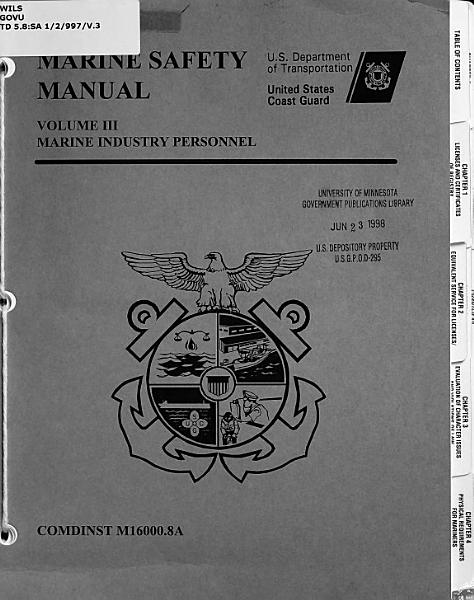 Download Marine Safety Manual Book