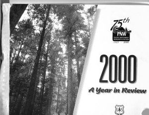 A Year in Review for the Pacific Northwest Research Station PDF