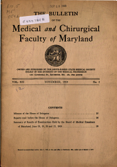 The Bulletin of the Medical and Chirurgical Faculty of Maryland: Volume 12, Issue 2