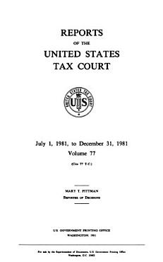 Reports of the Tax Court of the United States PDF