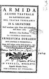 Armida azione teatrale da rappresentarsi nel teatro Vendramin di S. Salvatore nell'occasione della fiera dell'Ascensione dell'anno 1767