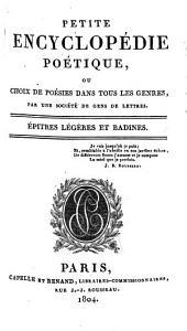 Petite encyclopédie poétique; ou, Choix de poésies dans tous les genres: Volume5
