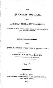 Journal of the Franklin Institute: Volume 4