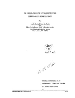 Miscellaneous Series   North Dakota Geological Survey PDF