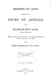 Reports of Cases Decided in the Court of Appeals of the State of New York: Volume 118