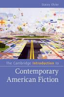 The Cambridge Introduction to Contemporary American Fiction PDF