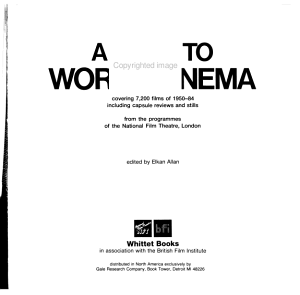 A Guide to World Cinema