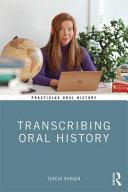 Transcribing Oral History