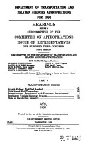 Department of Transportation and Related Agencies Appropriations for 1995 PDF