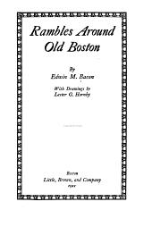 Rambles Around Old Boston