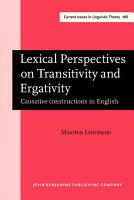 Lexical Perspectives on Transitivity and Ergativity PDF
