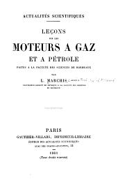 Leçons sur les moteurs a gaz et a pétrole