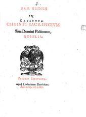 In cruentum Christi Sacrificium ... Homilia
