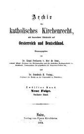 Archiv für katholisches Kirchenrecht: AfkKR : mit besonderer Berücksichtigung der Länder deutscher Sprache, Band 12
