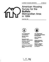 Current Housing Reports: American housing survey for the ... Metropolitan Area in .... H-170