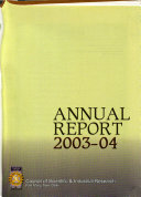 Annual Report - Council of Scientific and Industrial Research