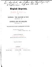 Euphues: The Anatomy of Wit