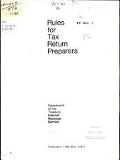 Rules for tax return preparers