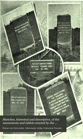 Sketches, historical and descriptive, of the monuments and tablets erected by the Minnesota Valley Historical Society in Renville and Redwood counties, Minnesota: to preserve the sites of certain incidents and in honor of the devotion and important services of some of the characters, whites and Indians, connected with the Indian outbreak of 1862