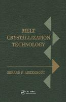 Melt Crystallization Technology PDF