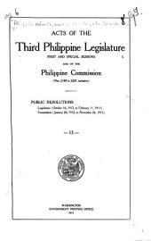 Laws of the First-Fifth Philippine Legislature ...: Issues 2188-2287